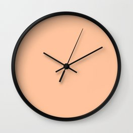 Apricot Ice Wall Clock