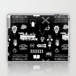 Railroad Symbols on Black Laptop & iPad Skin