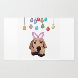 Happy Easter - Golden Lab Bunny Rug