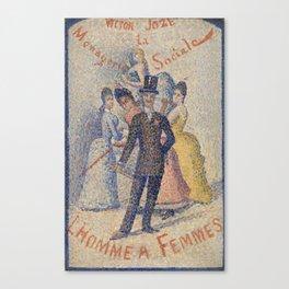 The Ladies' Man Canvas Print