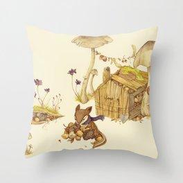 Harvey the Greedy Chipmunk Throw Pillow