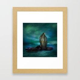 Egyptian Cobra Digital Art Framed Art Print