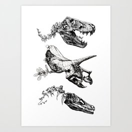 Jurassic Bloom. Art Print