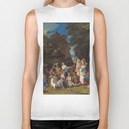 The Feast of the Gods Painting by Giovanni Bellini and Titian Biker Tank