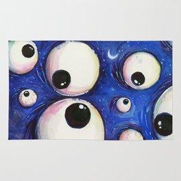 Blue Monster Eyes Rug