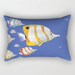 Grand Bahama Retro Plane travel poster Rectangular Pillow