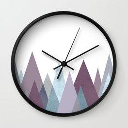 PLUM TURQUOISE MOUNTAINS GEOMETRIC Wall Clock