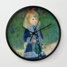 Auguste Renoir A Girl with a Watering Can 1876 Painting Wall Clock