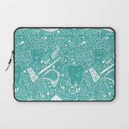 Happy Doodle Teeth Laptop Sleeve