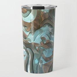 Abstract Metallic Layers  Travel Mug