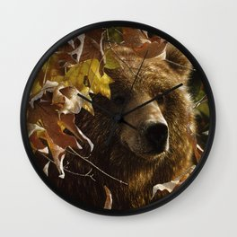 Grizzly Bear - Legend of the Fall Wall Clock