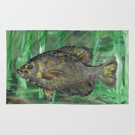 Black Crappie Fish in River Water Rug