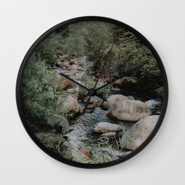 kaweah river Wall Clock