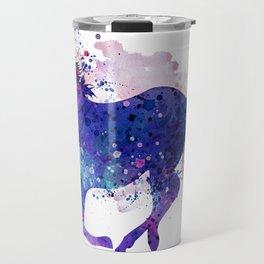 Running Horse Watercolor Silhouette Travel Mug