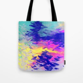 Neon Mimosa Inspired Painting Tote Bag