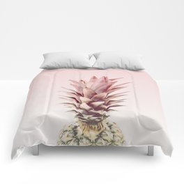 pineapple blush Comforters