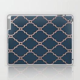Satin Blue & Metallic Bronze Laptop & iPad Skin