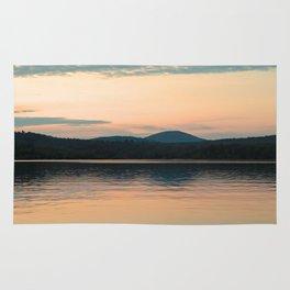 Long Lake Adirondack Sunset Rug