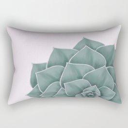 Big Green Echeveria Design Rectangular Pillow