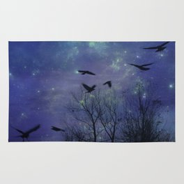 Celestial Night Of Crows Rug