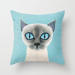 Queen of Siam Throw Pillow