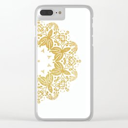 Golden mandala Clear iPhone Case