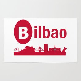 Bilbao, home of the Guggenheim and Athletic in Spain Rug