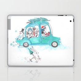 Snowy Stowaway Laptop & iPad Skin