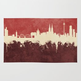 Cologne (Köln) Germany Skyline Rug