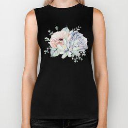 Pretty Succulents by Nature Magick Biker Tank