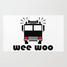 Firetruck Wee Woo Rug