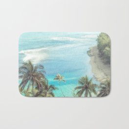 Dreamy Palm Beach Landscape Bath Mat