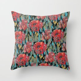 PEONYPARROT Throw Pillow