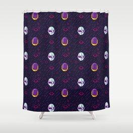 Daft Punk Pattern Shower Curtain