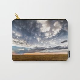 After the Storm - Spacious Sky Over Field in West Texas Carry-All Pouch