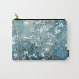 Vincent Van Gogh Almond Blossoms Teal Carry-All Pouch