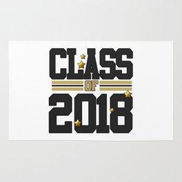 class of 2018 graduation grade senior 2018 new student love art gold hot Rug