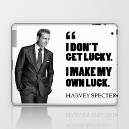 """I don't get lucky. I make my own luck."" Laptop & iPad Skin"