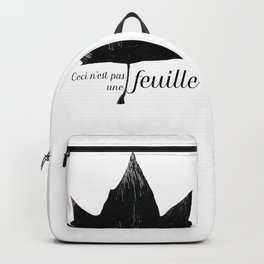 Ceci n'est pas une feuille Backpack
