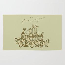Viking ship Rug