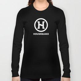 Housequake Logo White Long Sleeve T-shirt