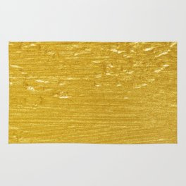 Solid Gold Paint Texture Rug