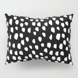 Handdrawn drops and dots on black - Mix & Match with Simplicty of life Pillow Sham
