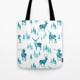 Ice Forest Deer Tote Bag