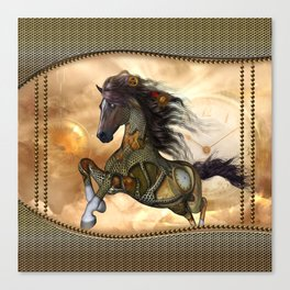 Steampunk, awesome steampunk horse Canvas Print