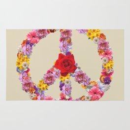Peace Flower Sign Rug