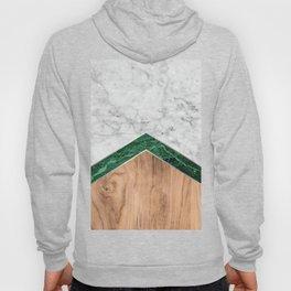 Arrows - White Marble, Green Granite & Wood #941 Hoody