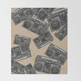 Boom boxs falling Throw Blanket