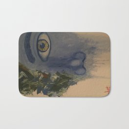 Blue Face Bath Mat