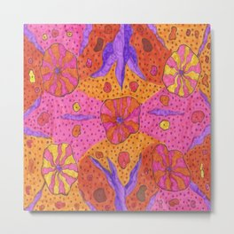 Bohemian Summer Vibes Abstract Metal Print